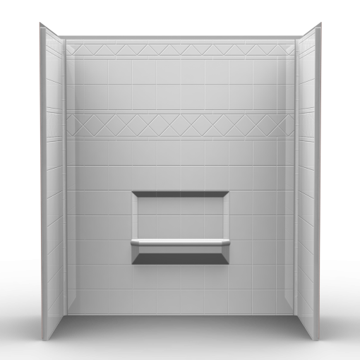Remodeler Tub/Shower walls - Three Piece 60x32 - Wall Surround w/Diamond Tile Look
