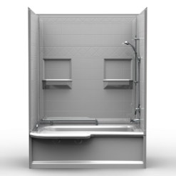 Remodeler Tub/Shower - Four Piece 60x34 - w/Diamond Tile Look