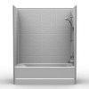Remodeler Tub/Shower - Four Piece 60x30 - 8 inch Tile Look