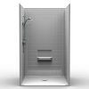 Barrier Free Shower - Four piece 48x34 - Real Tile Look