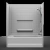 Remodeler Tub/Shower - Four Piece 60x29 - Real Tile Look