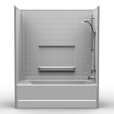 Remodeler Tub/Shower - Four Piece 60x29 - Real Tile Look