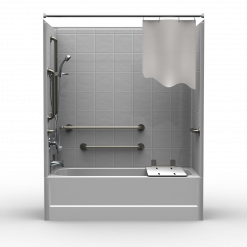 ADA Tub/Shower - Four Piece 60x30 - 8 inch Tile Look
