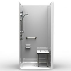 ADA Transfer Shower - Four Piece 40x38 - Smooth Wall Look