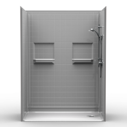 Barrier Free Shower - Five piece 60x30 - Real Tile Look