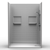 Barrier Free Shower - Five piece 60x33 - Real Tile Look