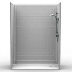 Barrier Free Shower - Five piece 60x32 - Real Tile Look