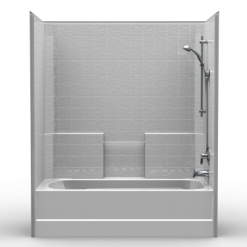 Builder Tub/Shower - One Piece 60x32 - Classic Tile Look