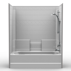Builder Tub/Shower - One Piece 60x32 - Diamond Tile Look