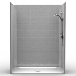 Barrier Free Shower - One piece 60x30 - Classic Tile Look