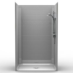 Barrier Free Shower - One piece 48x36 - Diamond Tile Look
