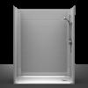 Barrier Free Shower - One piece 60x32 - Diamond Tile Look