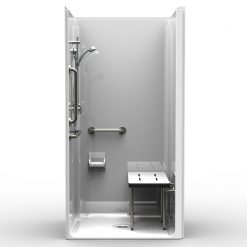 ADA Transfer Shower - One Piece 40x38 - Smooth Wall Look