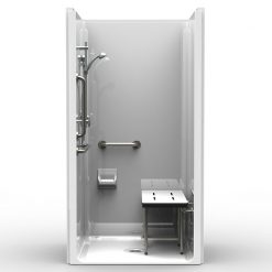 ADA Transfer Shower - One Piece 42x38 - Smooth Wall Look