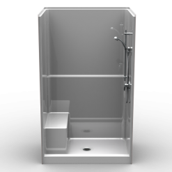 "Curbed Shower - One piece 48x36 - 4"" Curb - Smooth Look"