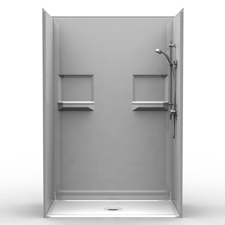 Need It Now Barrier Free Shower Five Piece 54x30