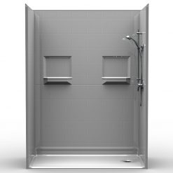NEED IT NOW - Barrier Free Shower - Five piece 60x30 - Subway Tile Look - Bundled Package