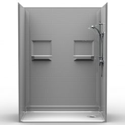 NEED IT NOW - Barrier Free Shower - Five piece 60x32 - Subway Tile Look - Bundled Package