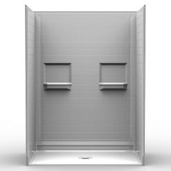 NEED IT NOW - Barrier Free Shower - Five piece 60x36 - Subway Tile Look - Bundled Package