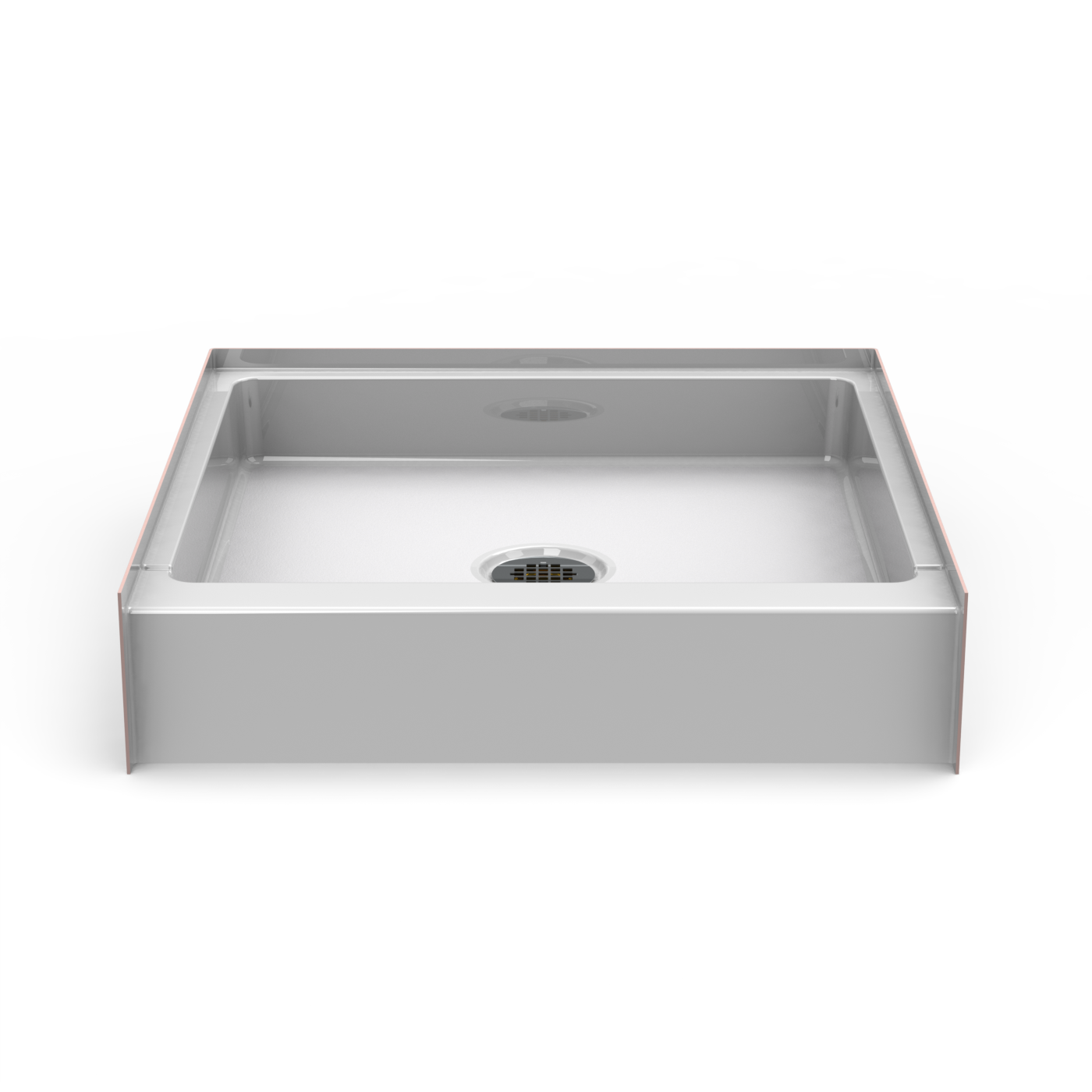 NEED IT NOW   Curbed Shower Pan   Seamless 30x30 w/center drain