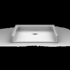 Barrier Free Shower Pan - Seamless 38x38 - Reverse Bevel