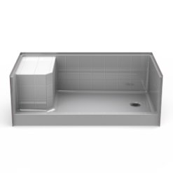 Curbed Shower Pan - Seamless 60x30