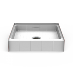 Curbed Shower Pan - Seamless 36x36