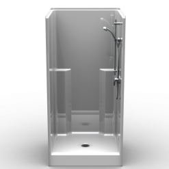 """Curbed Shower - One Piece 36x36 - 6"""" curb - Smooth Wall Look"""
