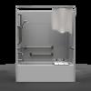 ADA Tub/Shower - One Piece 60x32 - Smooth Wall Look
