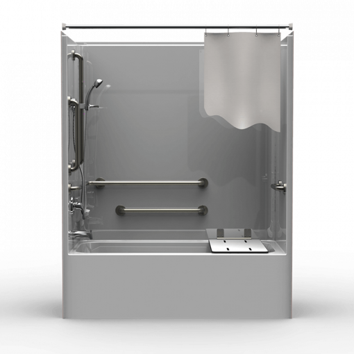 ADA Tub/Shower - One Piece 60x32 - Smooth Wall Look