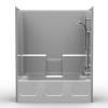Builder Tub/Shower - One Piece 54x32 - Smooth Wall Look